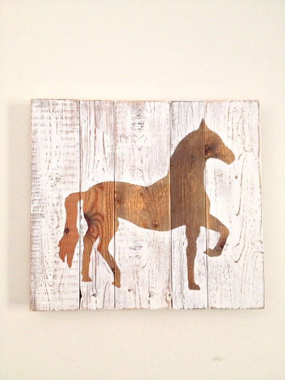 Rustic Horse Painting On Reclaimed Wood By Onelove Etsy