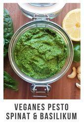 superleckeres veganes Pesto mit frischem Spinat Basilikum und ganz viel Liebe Einfach und schnell hier schon lange Lieblingsessen Haltbar frisch