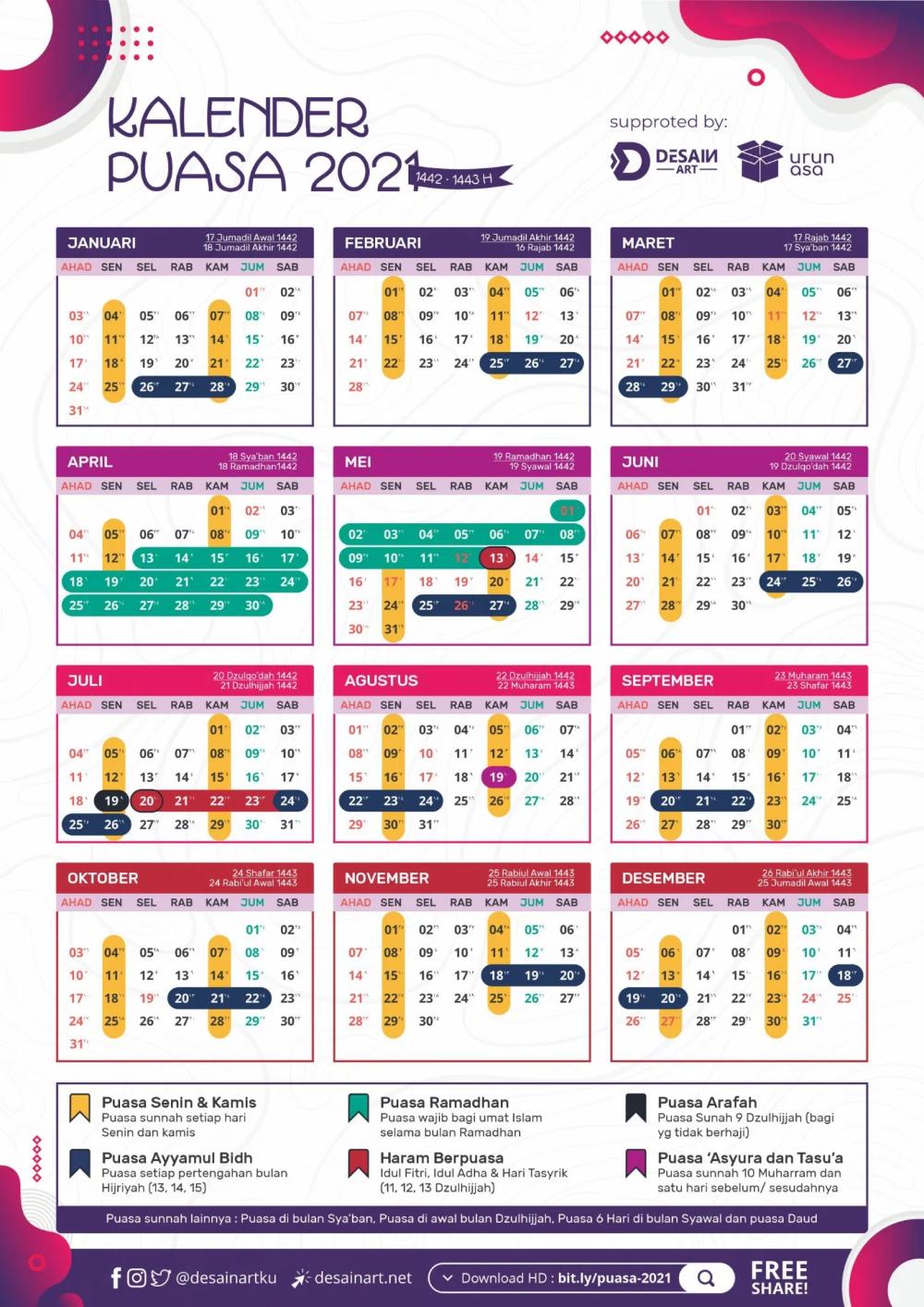 Kalender Puasa 2021 - Download - DESAINART