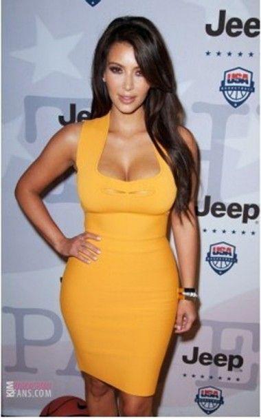 be02a18c708 Kim Kardashian Slim Herve Leger Bandage Dress