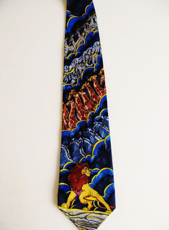 0ce9a206ef6b Lion King Necktie, Mickey Inc Silk Necktie, Disney Tie, Simba Lion, African  Animals, Walt Disney Movie Cinema, Necktie, Cartoon Necktie by TomCatBazaar  on ...