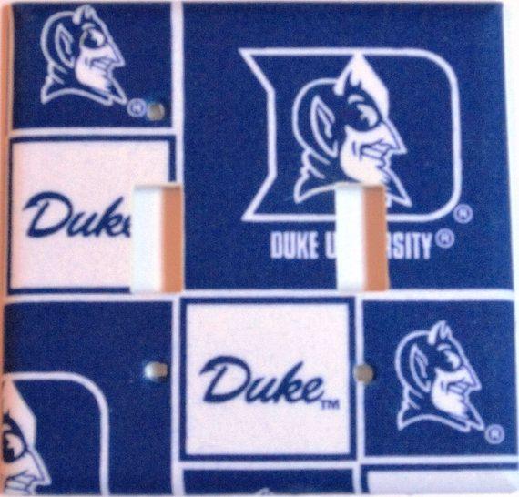 Duke Blue Devils Double Switch Plate Cover By Theravenphoenixluna Rhpinterest: Duke Blue Devils Home Decor At Home Improvement Advice
