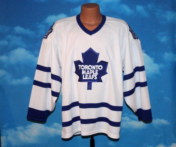 Toronto Maple Leafs Ccm Hockey Jersey Medium Vintage 1980s By Nodemo Toronto Maple Leafs Ccm Hockey Long Sleeve Tshirt Men