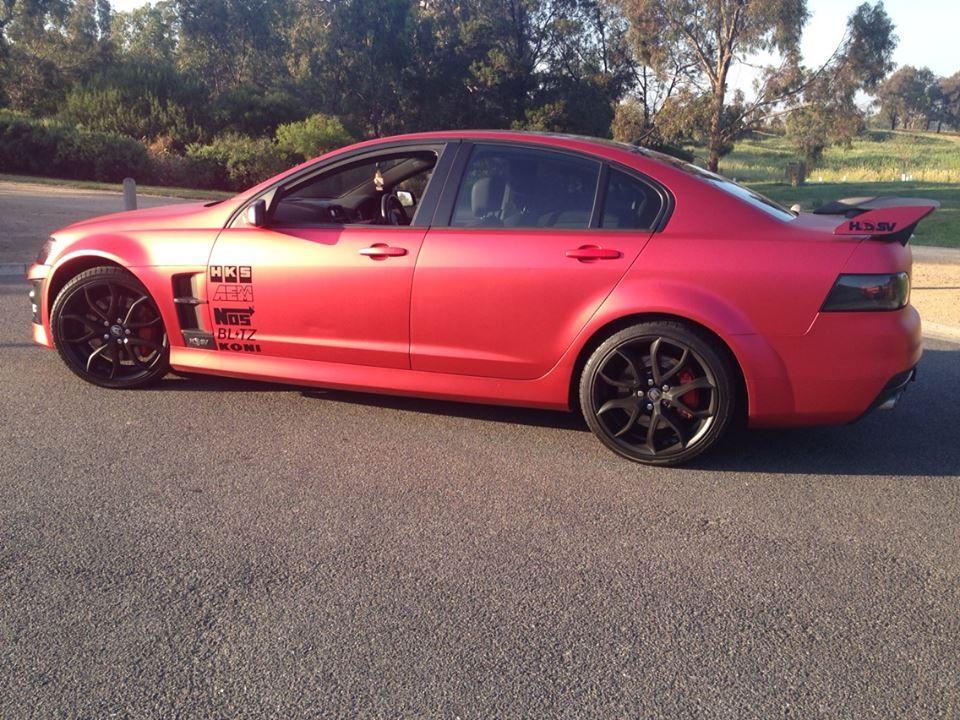 Red Metallic Chrome Car wrap