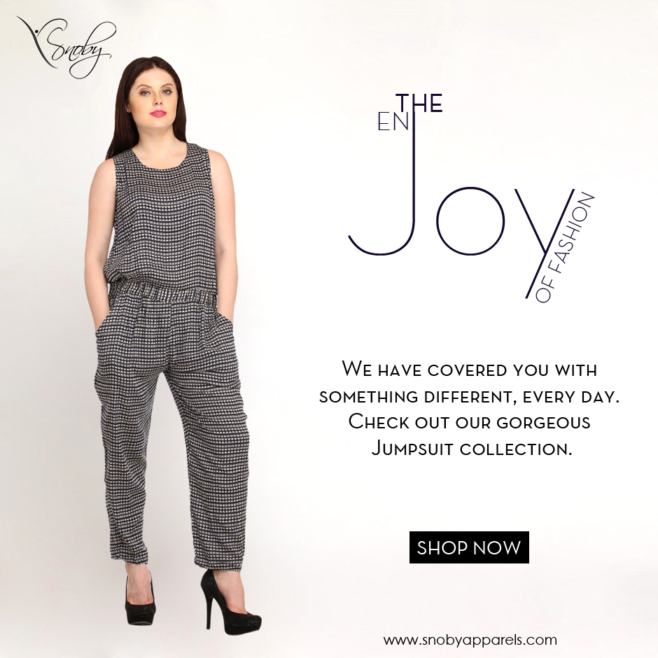 Enjoy the joy of fashion! Snoby Apparels presents a fabulous deal on #Jumpsuits. Get it : http://ow.ly/YADYF