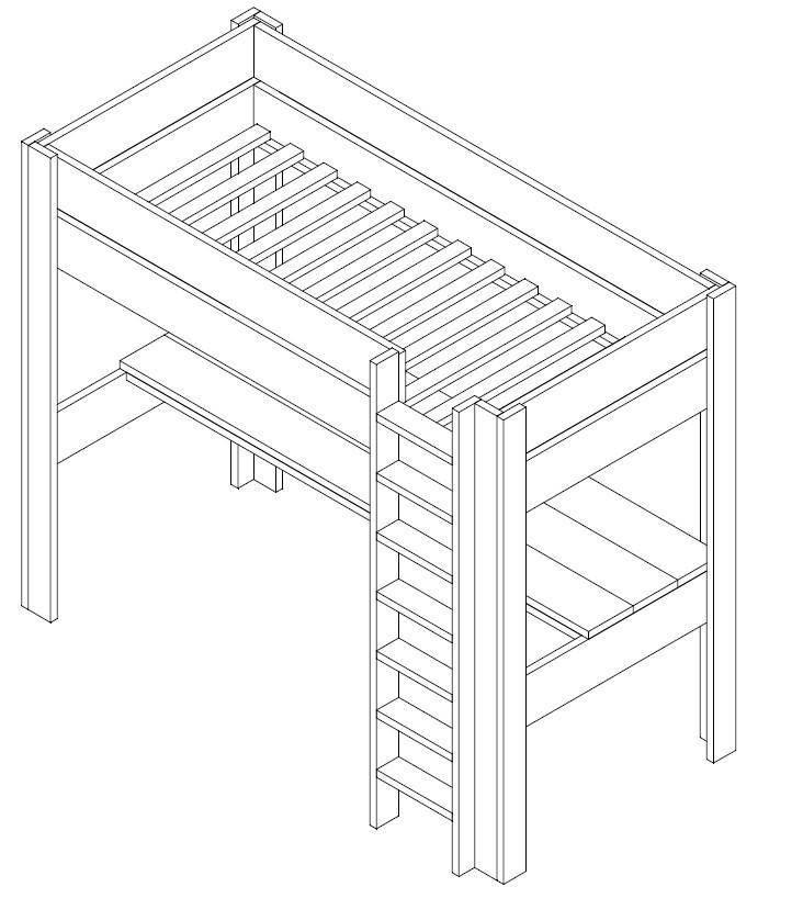 Betere steigerhout hoogslaper bouwtekening - Google zoeken (met GP-63