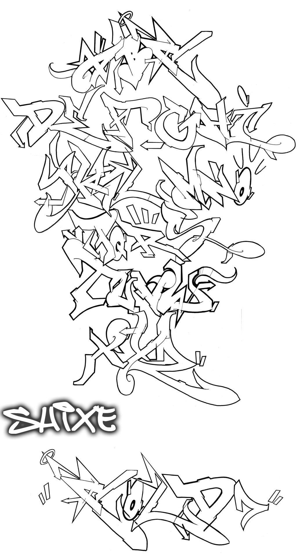 Pingl par vincent peralta sur insomnie graffiti lettrage graffiti et lettrage - Lettre graffiti modele ...