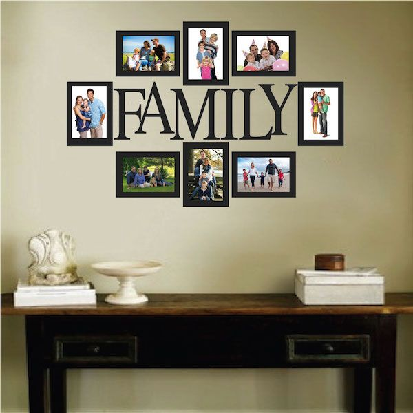 Wall Quote Family Picture Frame Frames On Wall Family Photo