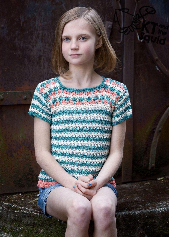 Crochet pattern, girls crochet top pattern, summer, spring, ok to ...