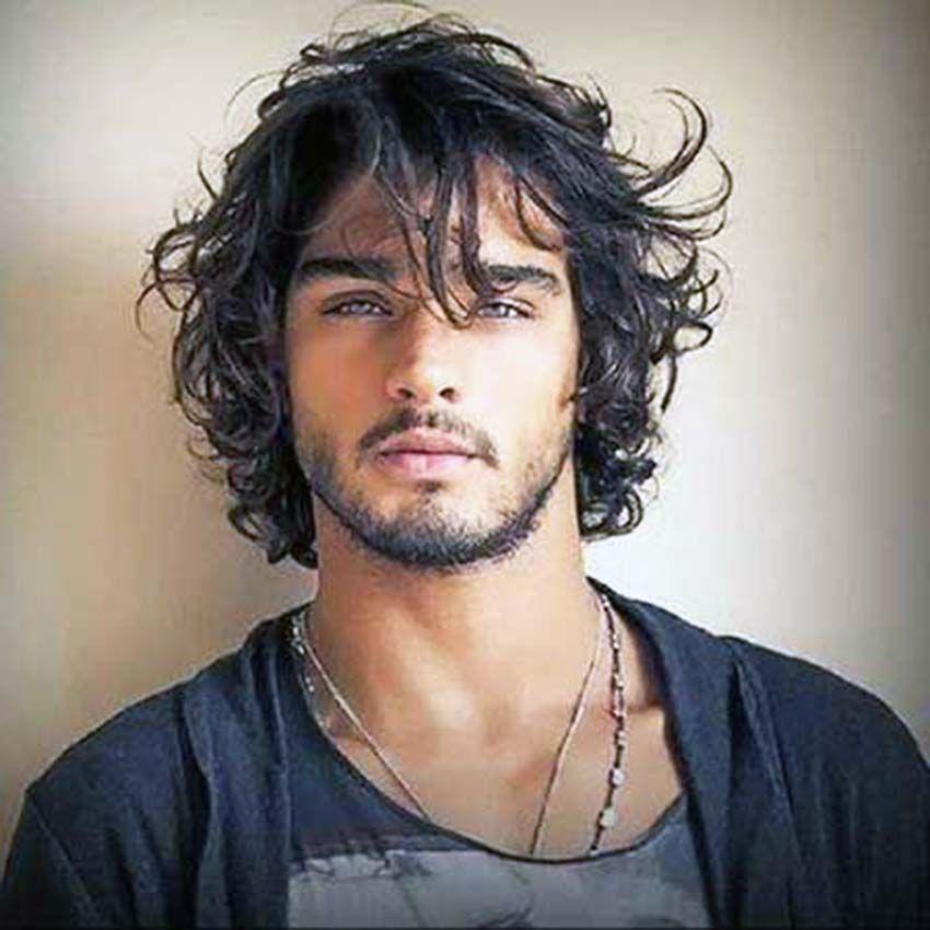 Full Men Long Curls Mens Hair Pinterest Long Curly Hair Long