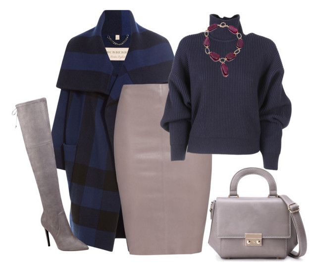 """""""outfit 4948"""" by natalyag ❤ liked on Polyvore featuring Burberry, GUESS, Jitrois, Balenciaga and WithChic"""