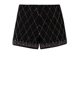 Black Diamond Embellished Shorts from New Look £29,99