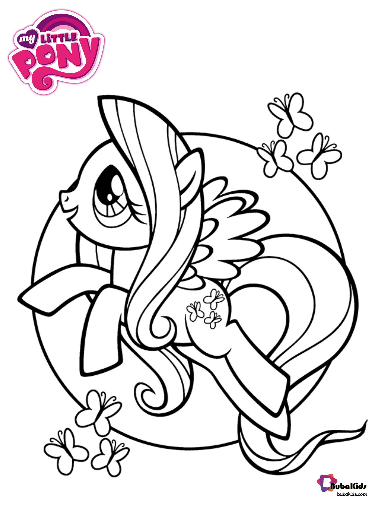 Butterflies And My Little Pony Coloring Page Tinkerbell