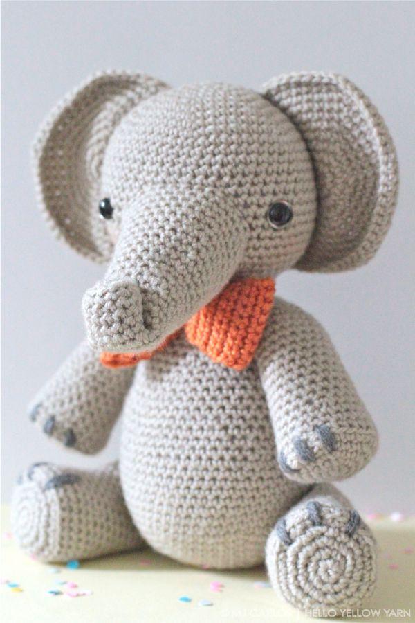 crochet elephant - amigurumi elephant - crochet elephant pattern ... | 900x600