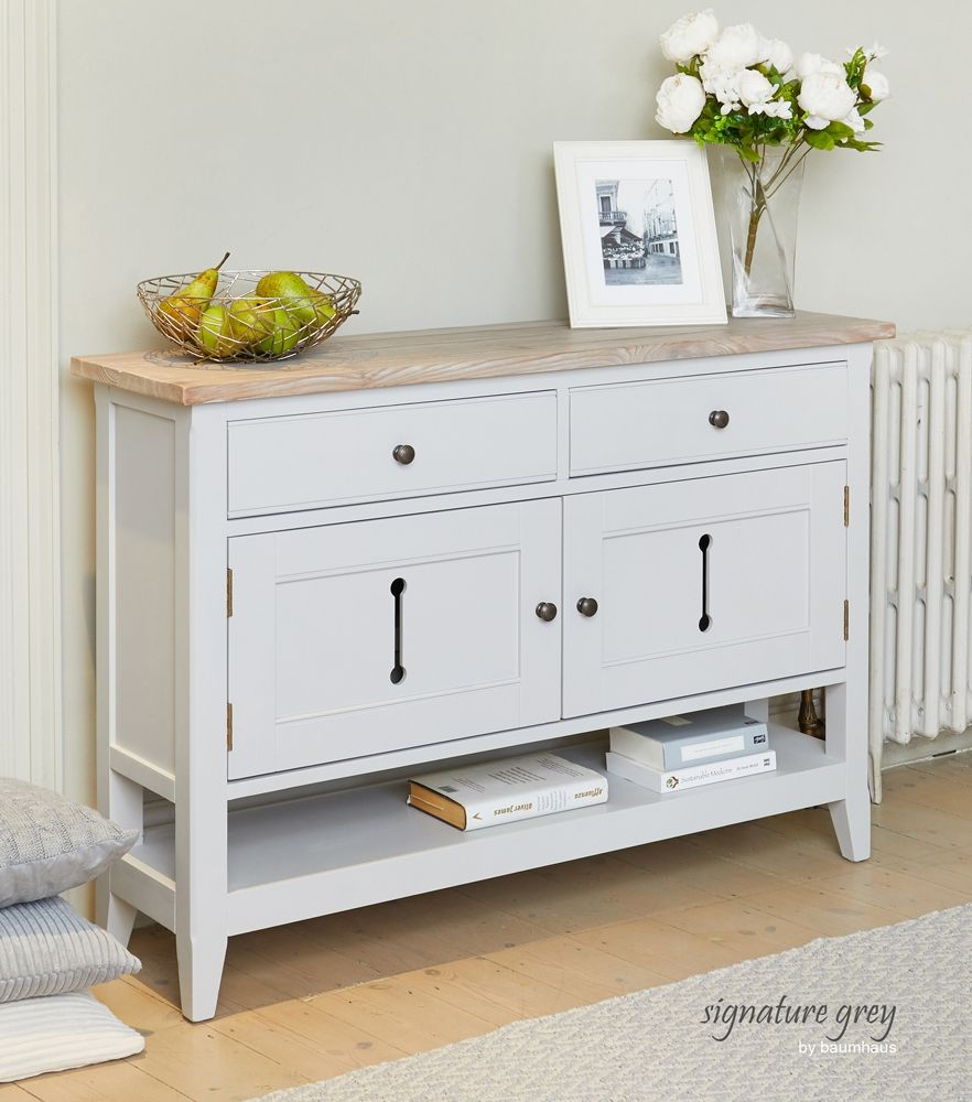 Signature Grey Small Sideboard Hall Console Shoe Storage Table