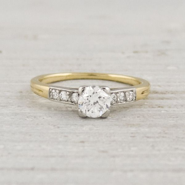 vintage tiffany amp co yellow gold diamond engagement ring