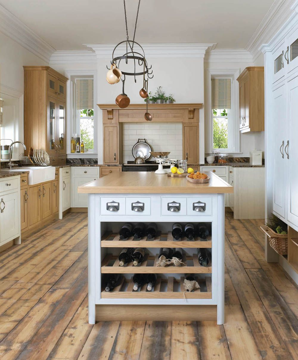 Wine rack pot and pan holder and the neutral colors for Neutral colors for kitchen and dining room