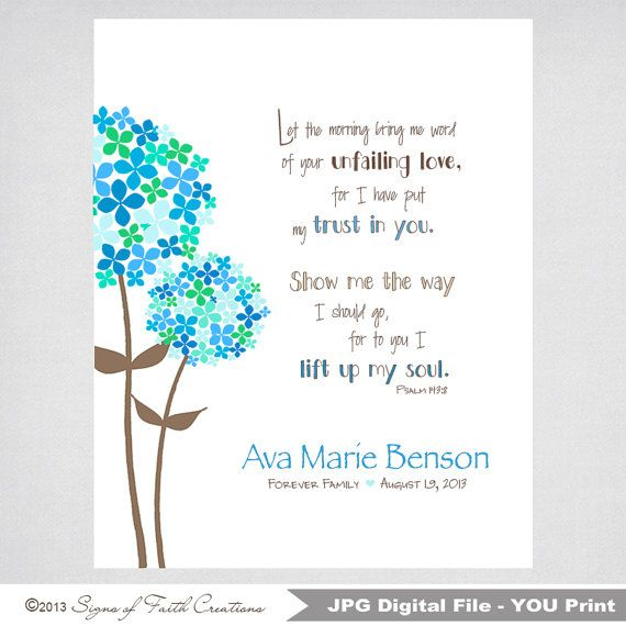Confirmation gift baptism gift first by signsoffaithcreation confirmation gift baptism gift first communion gift girls personalized flowered printable wall art with psalm bible verse negle Choice Image