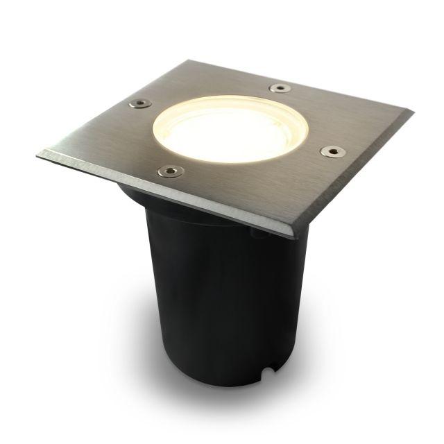LED Bodeneinbaustrahler Edelstahl Außenleuchte IP67 GU10 230V (Quad)