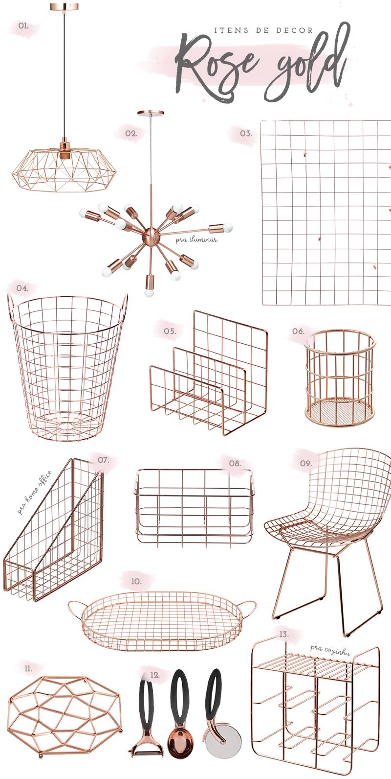 onde comprar acess rios em rose gold para decorar a casa. Black Bedroom Furniture Sets. Home Design Ideas