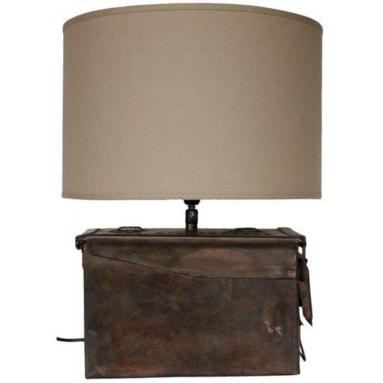 Tetney Metal Ammunition Box Table Lamp