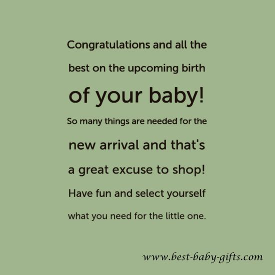 This is cute to write in your baby congratulations card when ...