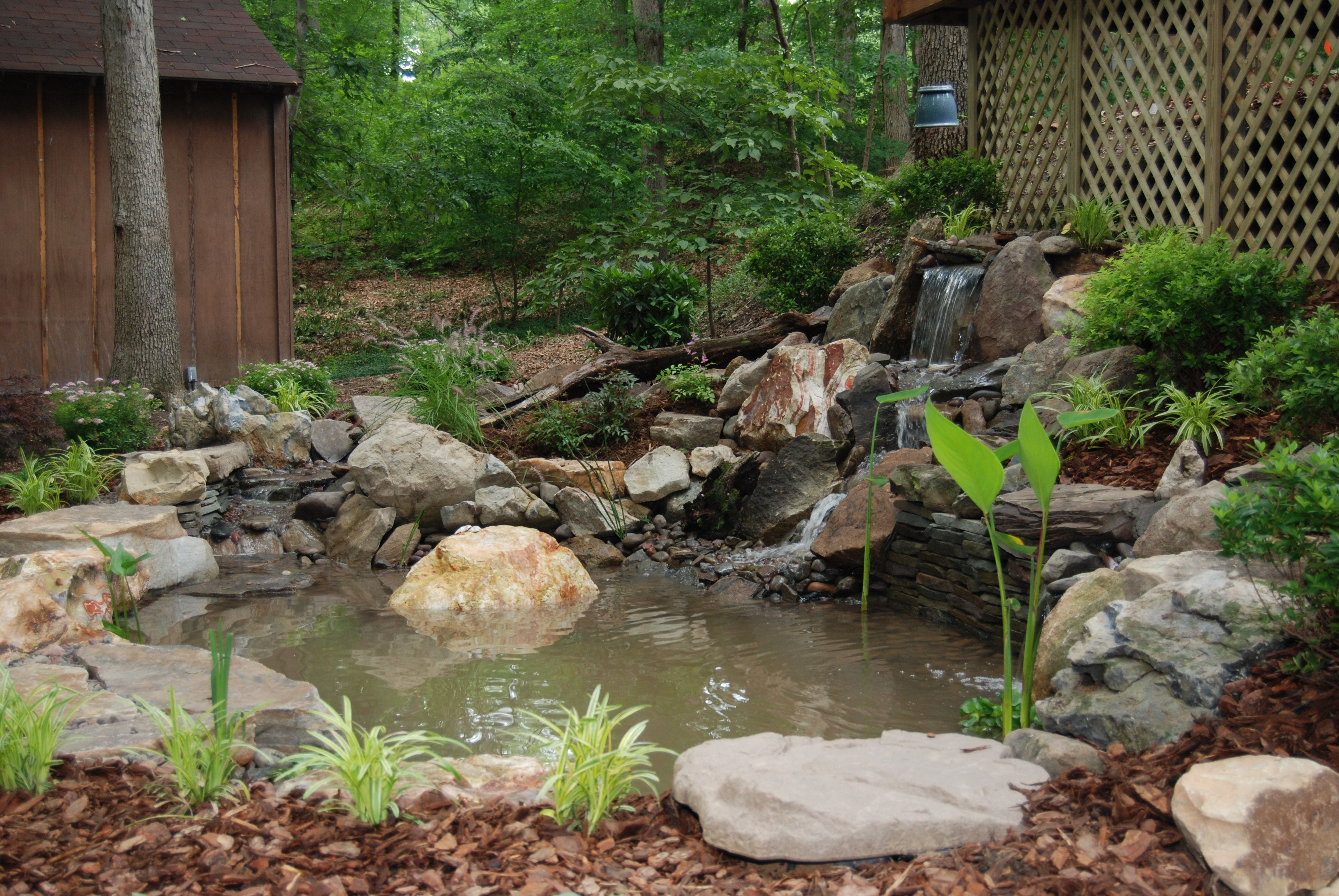 Garden Ponds Design Ideas create a peaceful haven in your yard with this garden pond and cedar bridge 17 Best Images About Pond Ideas On Gardens Small