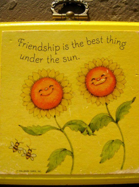 Friendship Plaque - Vintage Hallmark Home Decor Gift   Friendship ...
