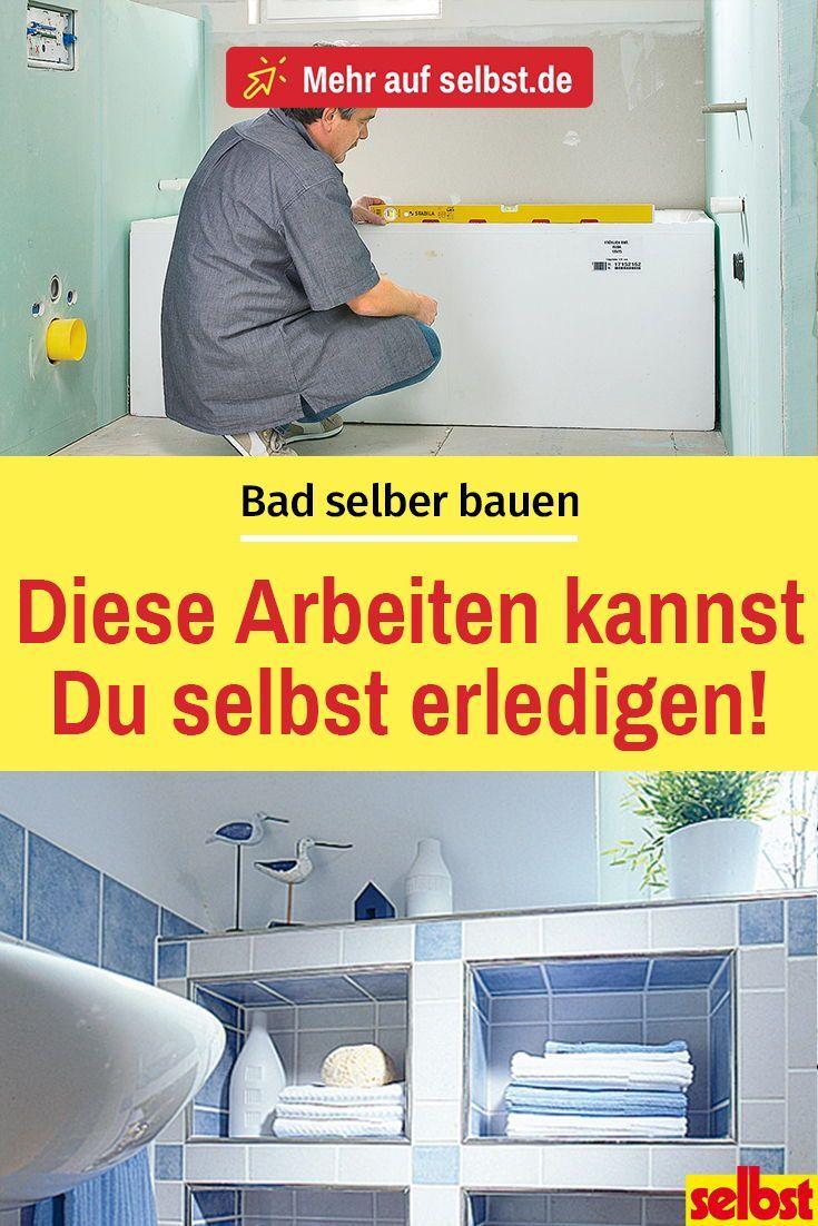 Bad Selber Bauen Selbst De In 2020 Badezimmer Bauen Bad Wc Renovieren