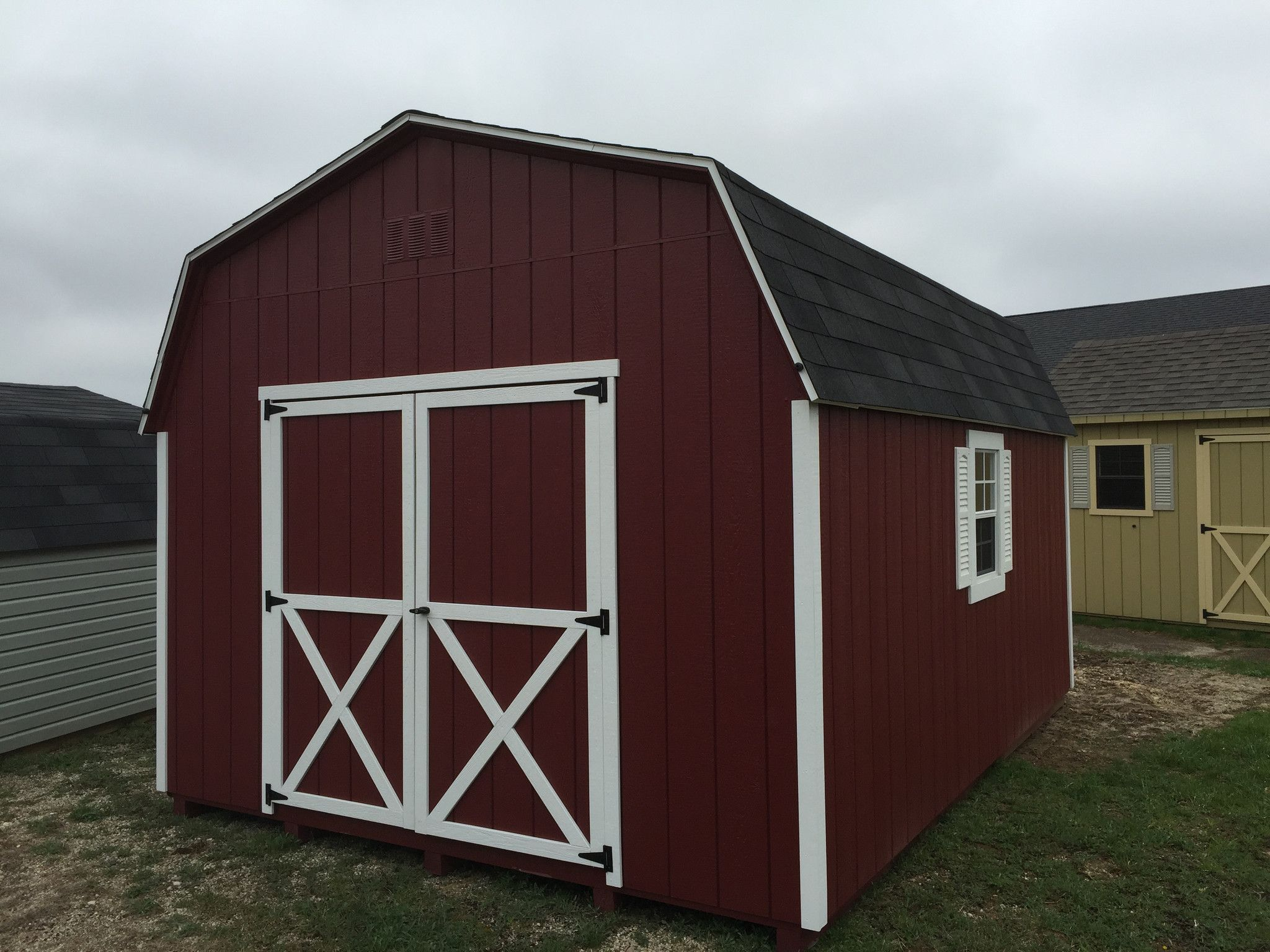 12x16 Painted High Barn