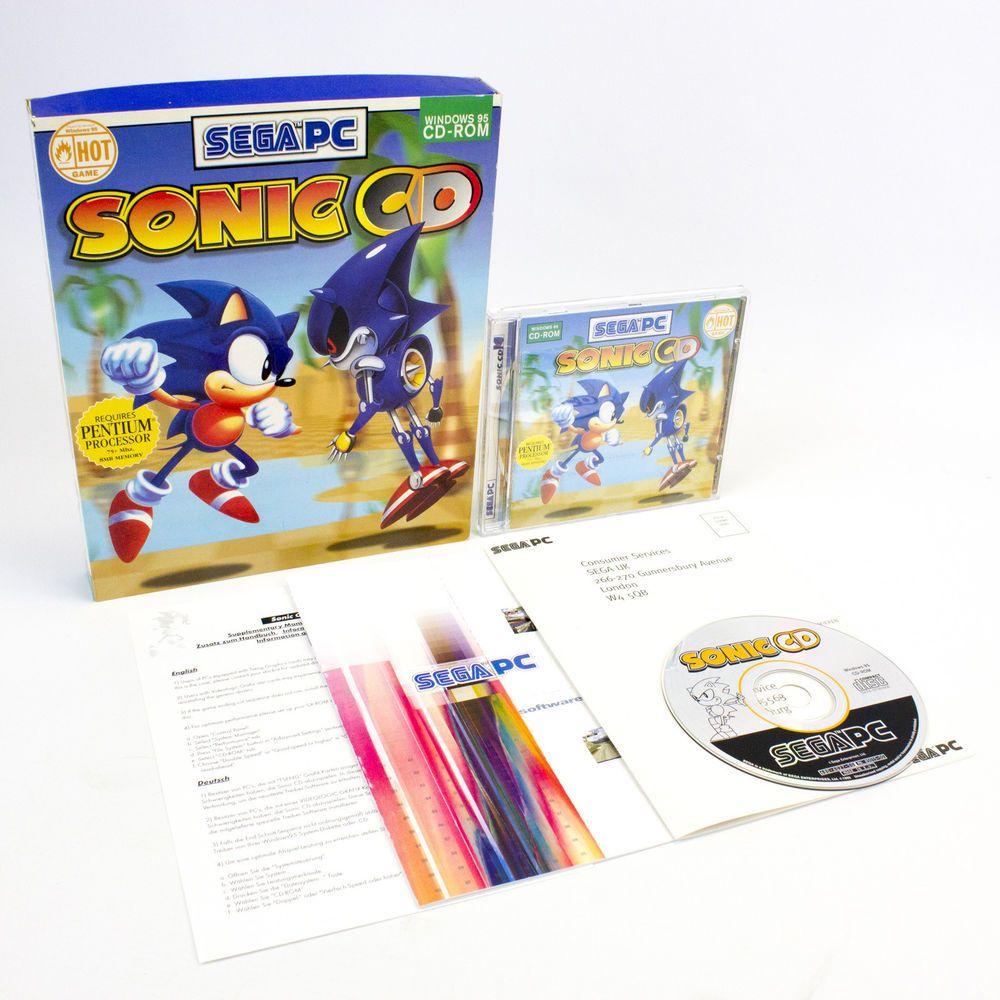 Sonic CD for PC CD-ROM in Big Box by SEGA, VGC, CIB