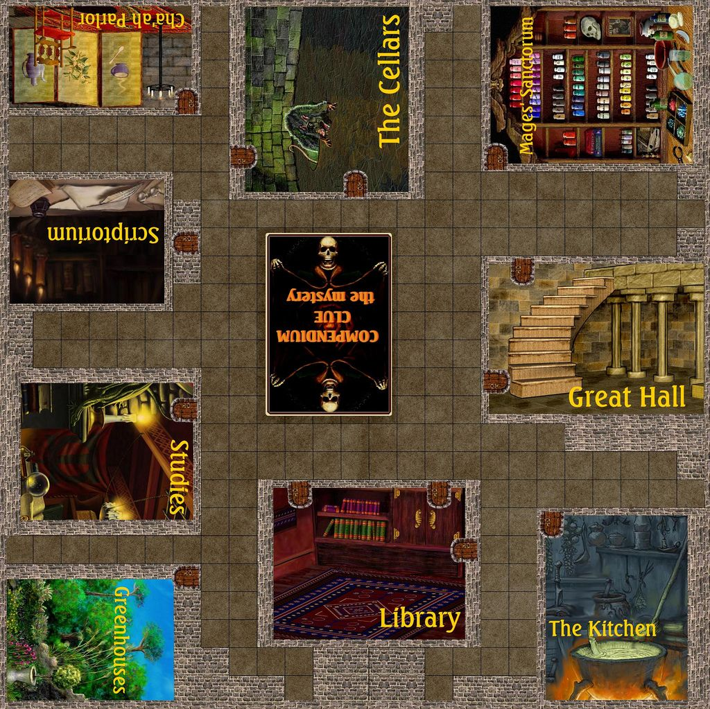 For Mysteries. I'd like to have a game of Clue in one of