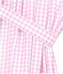 Light Pink Gingham Check Window Curtains Pink Gingham Gingham Check Long Curtains
