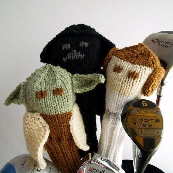 Star Wars Knitting Patterns Golf Club Covers Knitting Patterns