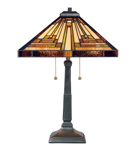 Black friday 2014 quoizel stephen 2 light tiffany table lamp vintage bronze finish from quoizel cyber monday