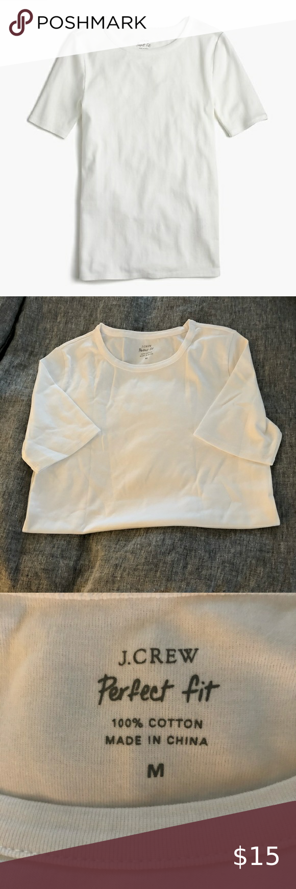 #body #Crew #Fit #fitness body #JCREW #Length #NWOT #Perfect #Slim #Tops #Tshirt
