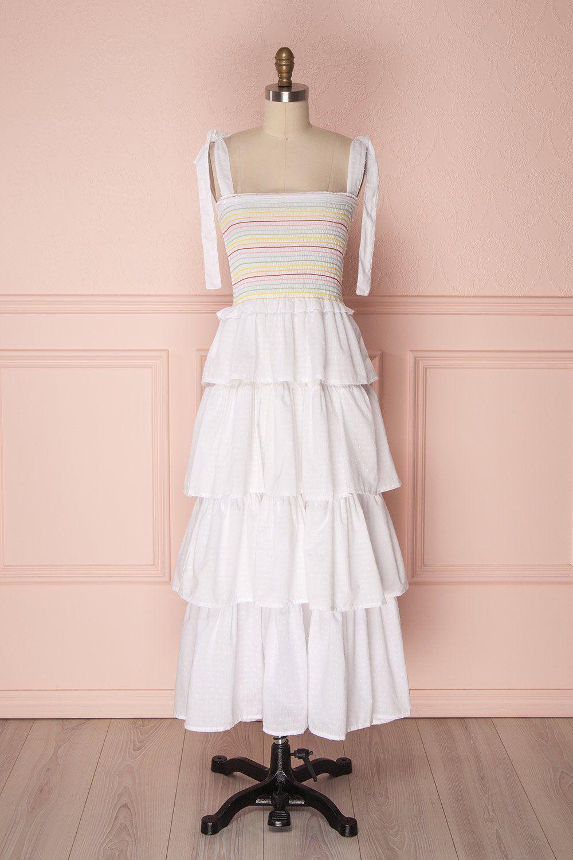 Eshan Midi Ruffle Dress Dresses Pretty Outfits [ 1500 x 1000 Pixel ]