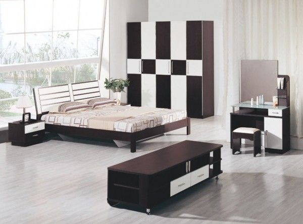 Attractive Bedroom Design that Use Dual Color Bedroom Sets. #Bedroom #BedroomSets