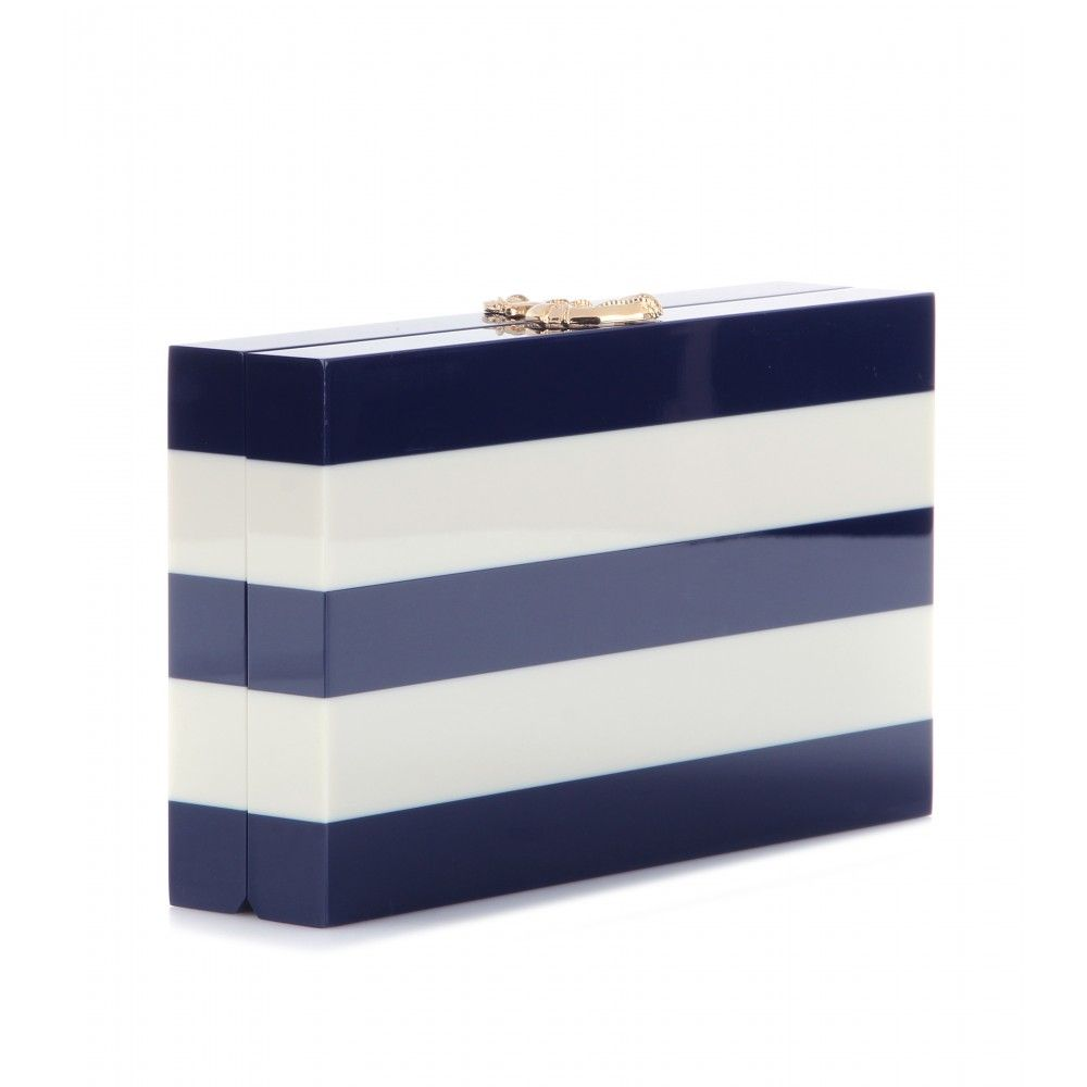 mytheresa.com - Nautical Pandora box clutch - clutch bags - bags - Luxury Fashion for Women / Designer clothing, shoes, bags