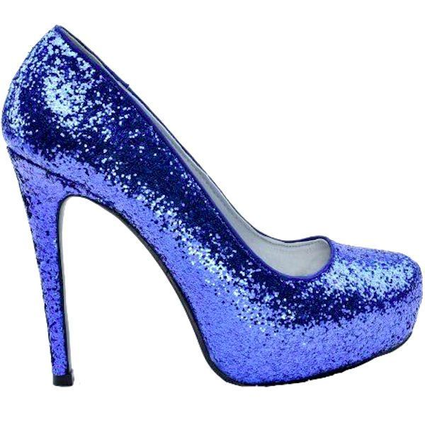 ... wanelo.co - arooselbahr.com  cheaper ... Shoes Size better 5db20 45cb8  Womens Sparkly Royal Blue Glitter high low ... c52e44ba3