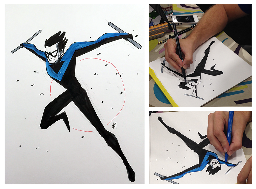 Nightwing by Joey Mason. SDCC 2014 at his booth.