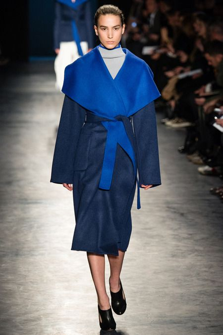 Altuzarra AW14 - Cobalt is the colour for next season, and it's all about the wrap coat for outwear.