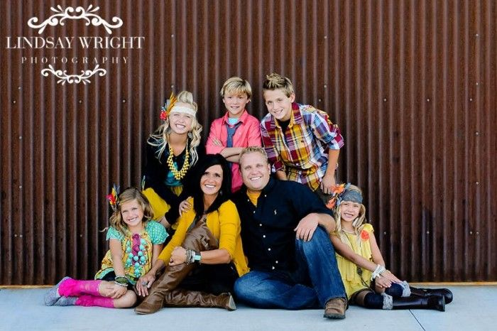 Family Picture Clothes By Color Series Multi