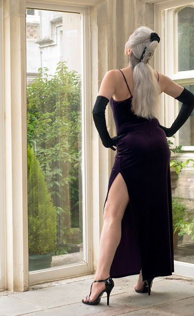 Alex Bruni Silver Foxes Long Dress With Slit Dresses