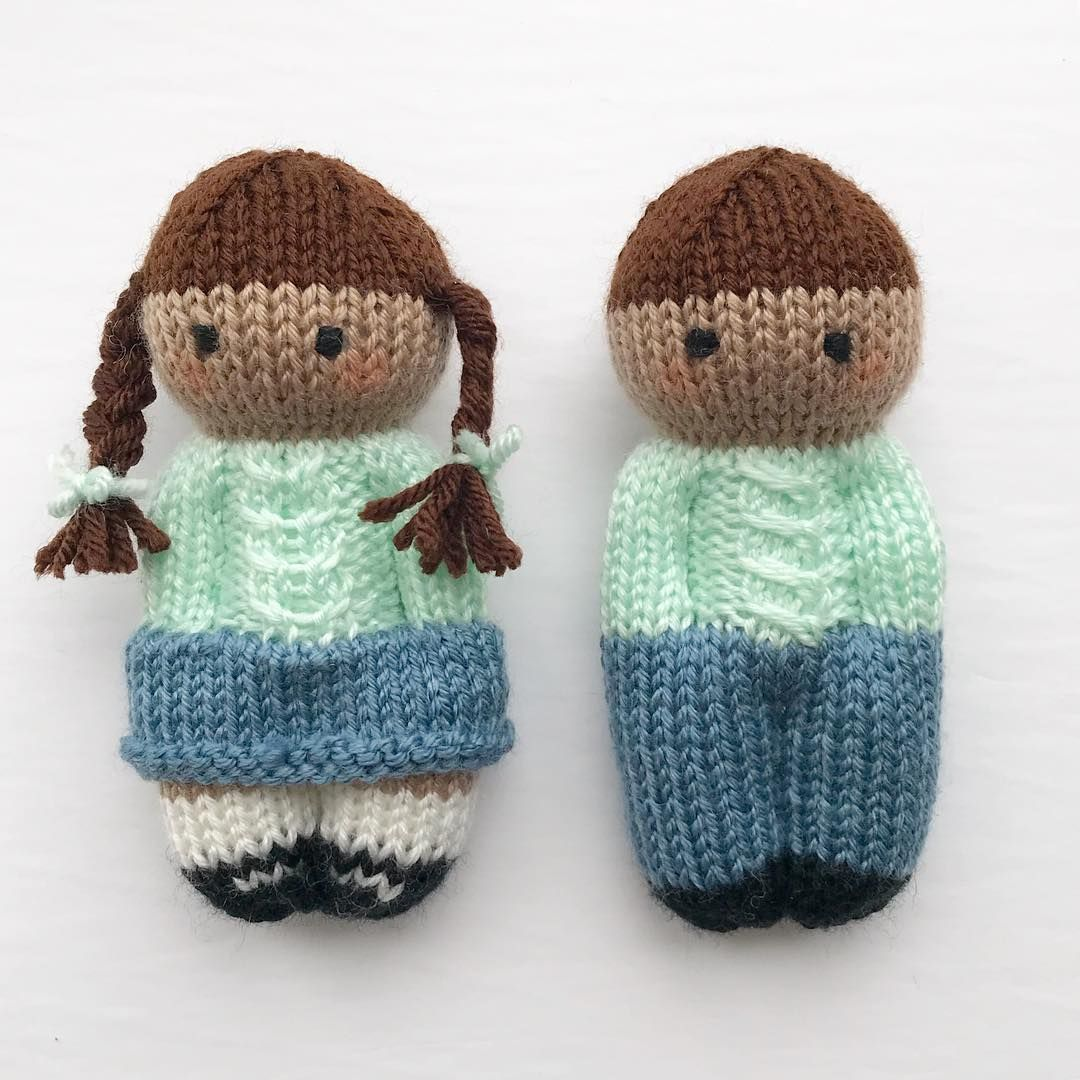 "Esther Joy Braithwaite on Instagram: ""I'm feeling the Monday Blues today!  Using @knit_picks Brava Worsted in the appropriately named ""Denim"" colourway for these jeans and…"" #knitteddolls"