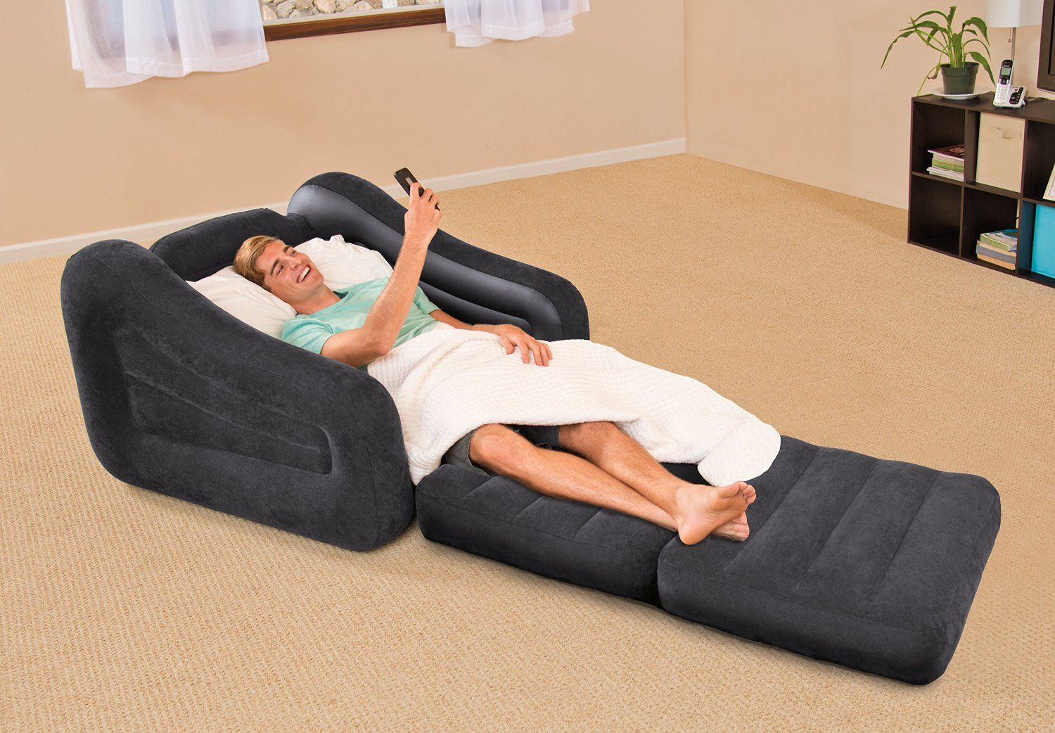 Intex Pull Out Chair Inflatable Bed Twin New Chair Pull
