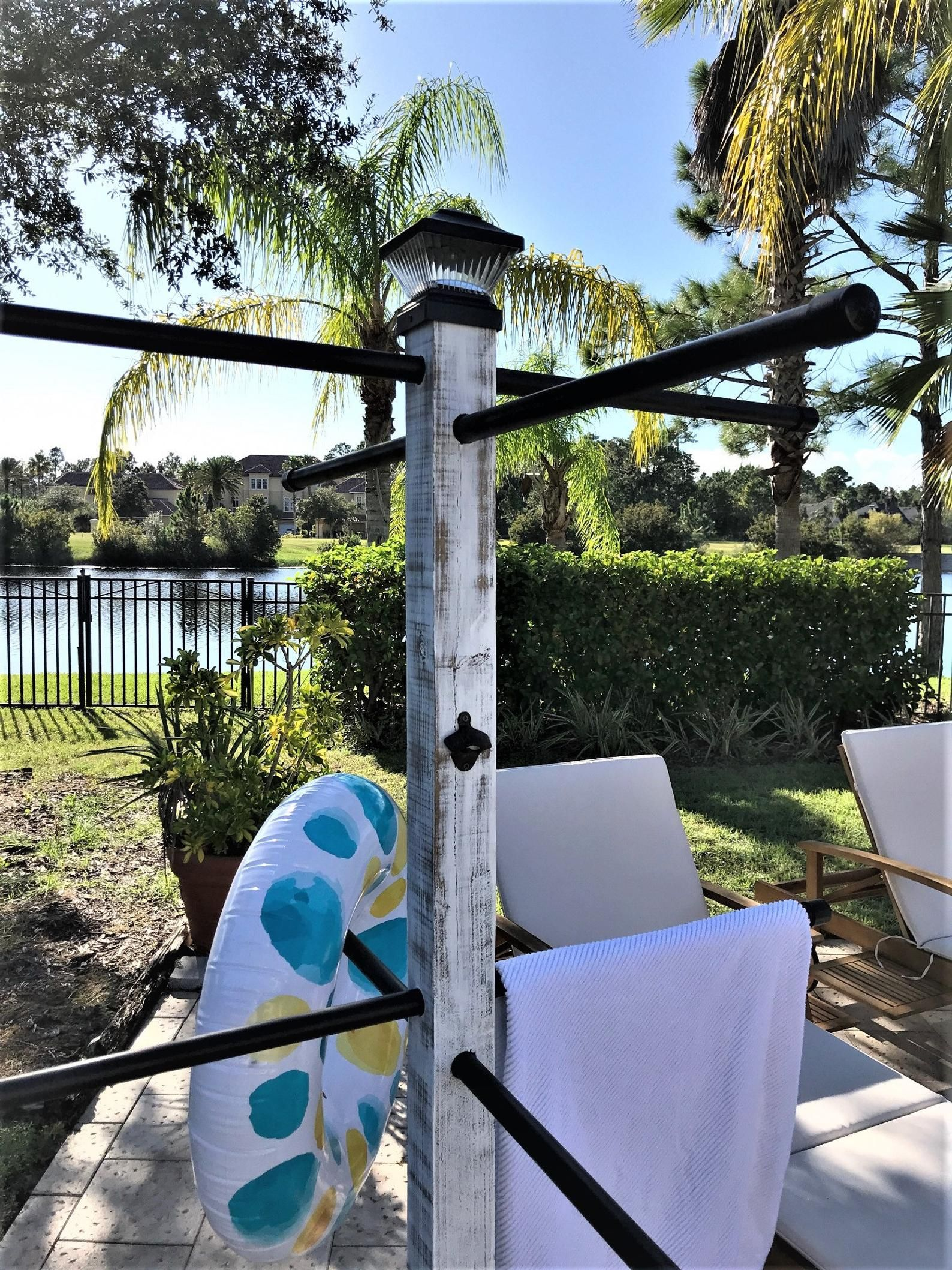 Pool Towel Tree Etsy Pool towels, Pool, Poolside decor