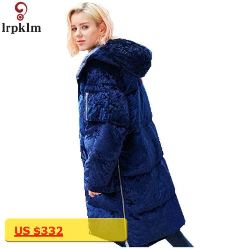2226e4b3af3f3 Brand Winter Down Coat 2017 Hooded Ladies Quality Cotton Clothes Loose  Thick Warm Cashmere Coat Women