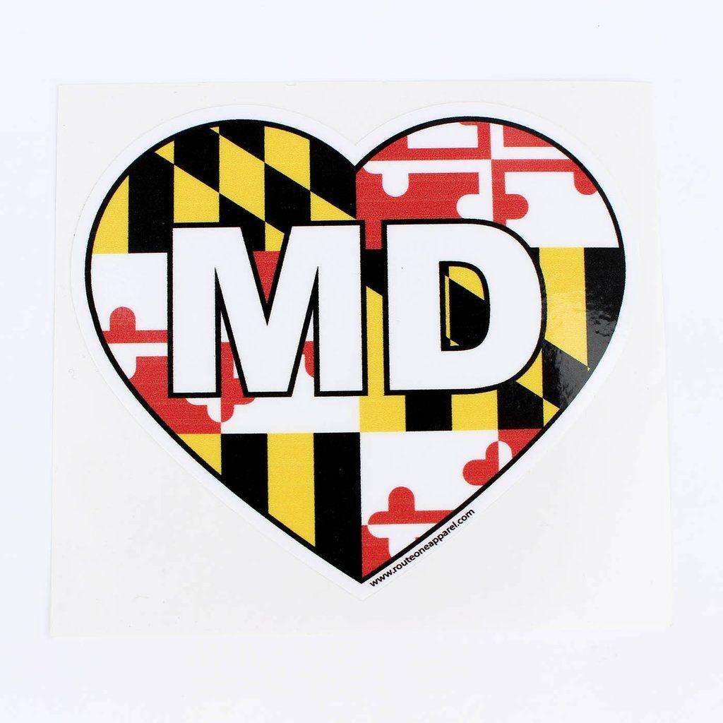Maryland heart sticker heart stickers stickers maryland