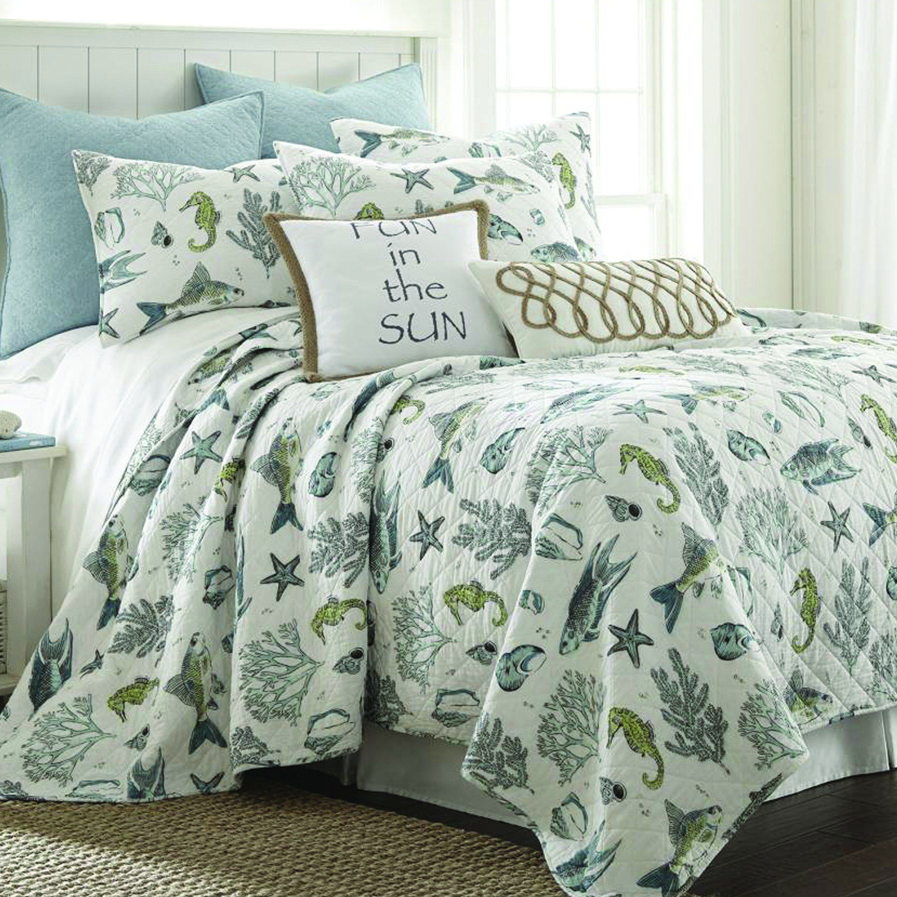Byron Bay Quilt Set Cottage Shop Beach bedding sets